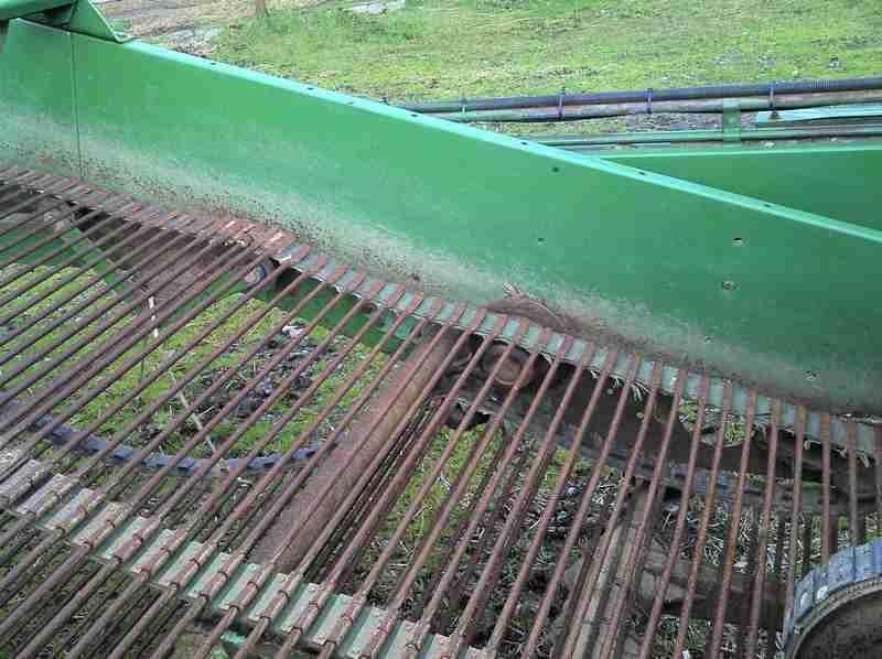 the web on a 2 row potato harvester