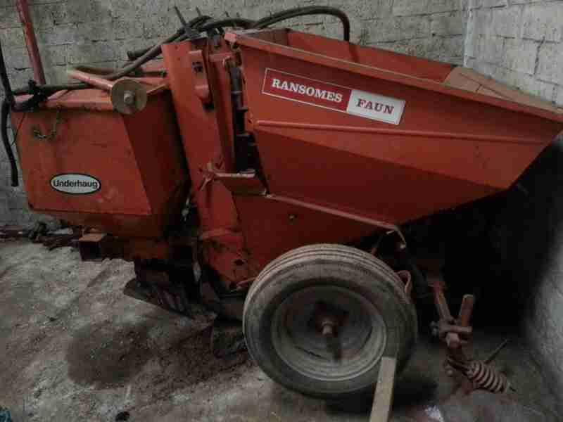 a farmers Ransomes Faun 2 row potato planter machine