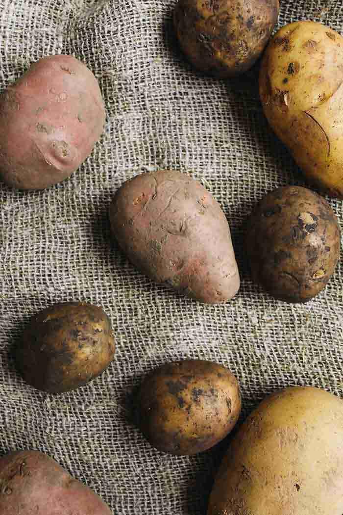 potatoes on a fabric