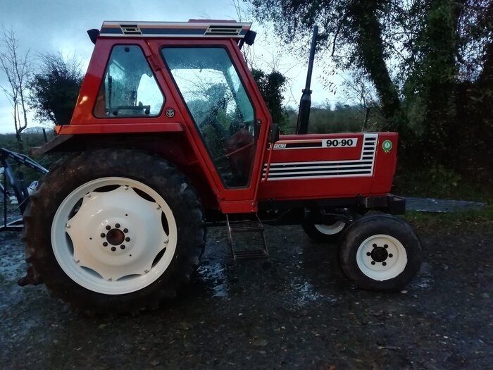 finished restored Fiat tractor