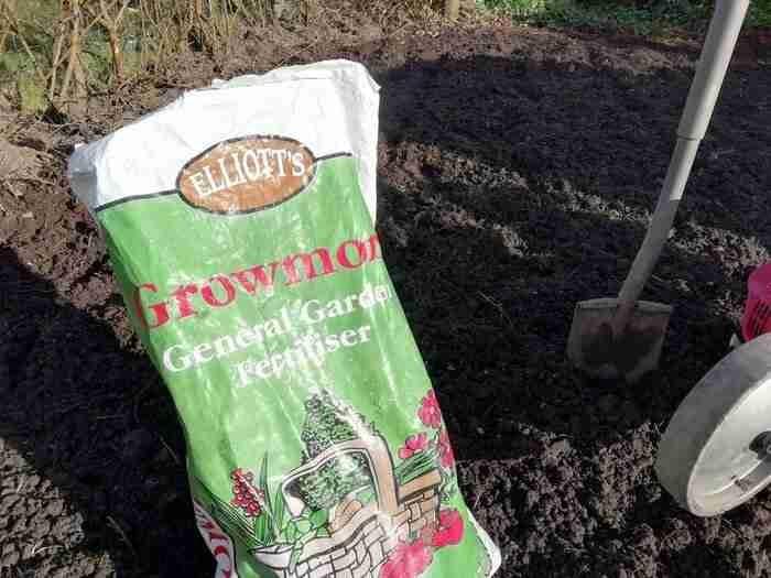 bag of chemical fertilizer for tilled soil
